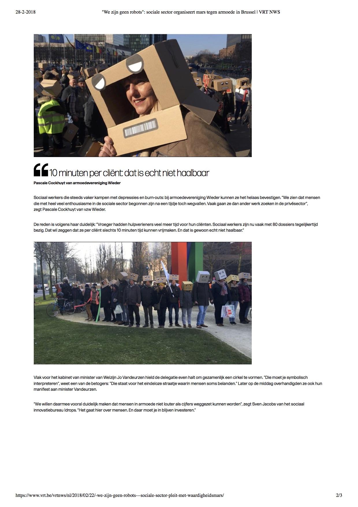 WAe zijn geen robots- sociale sector o...ars tegen armoede in Brussel | VRT NWS